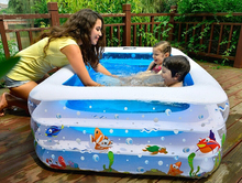 Adult children's pool, thick PVC inflatable swimming pool Water Entertainment Products