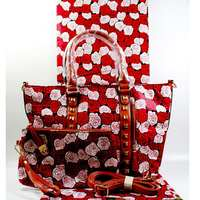 New Fashion arrival real regular real soft new wax fabric with woman's handbag set.african ankara wax bag for sewing