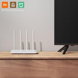 Image 5 - Oryginalny Xiaomi Mi Router WiFi 4 WiFi Repeater APP sterowania 2.4G 5GHz 128MB DDR3 1200 dwuzakresowy dwurdzeniowy 880MHz Router bezprzewodowy