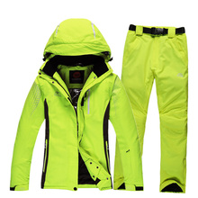 2016 men and women's ski suits Rossignol ski jacket + waterproof winter skiing trousers set unisex outdoor sportwear snow coat