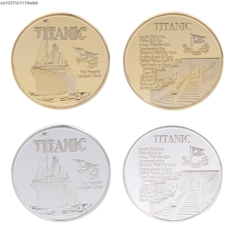 Commemorative Coin Titanic Ship Incident Collection Arts Gifts BTC Bitcoin Alloy Non Currency Coin