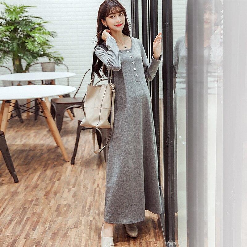 de7076a957a maternity clothes2018 navy blue lace long sleeve maternity dresses for  photo shoot long plus size Dubai muslim pregnant dress