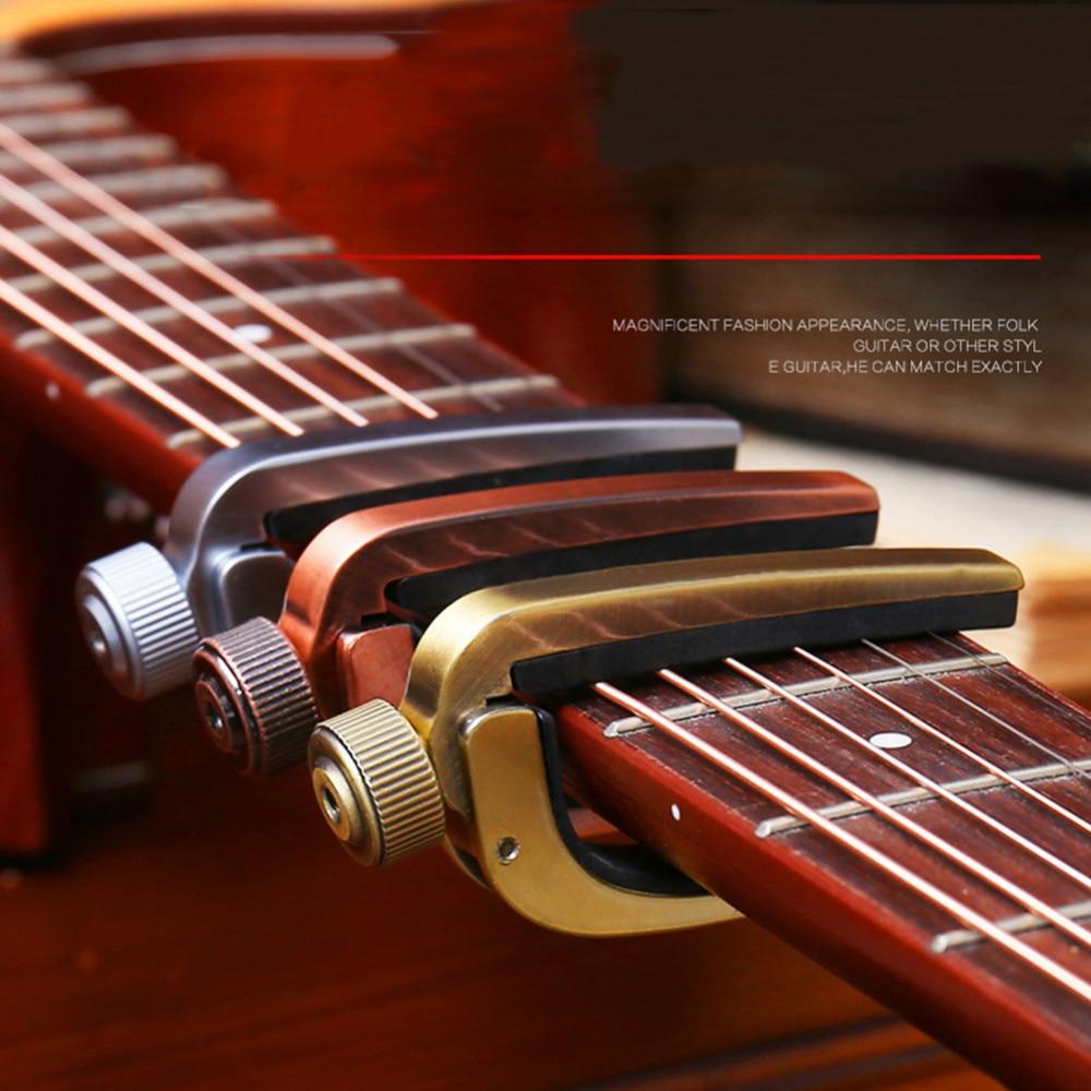 adjustable roller metal guitar capo key clamp for acoustic electric guitar gold copper silver. Black Bedroom Furniture Sets. Home Design Ideas