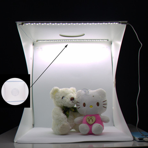 Image 4 - Baأوليدا المحمولة مصباح LED للاستديو هات علبة الصور 24/30/40 سنتيمتر ملحقات ستوديو الصور مع أسود/أبيض خلفيات للصور استوديو سوفت بوكس