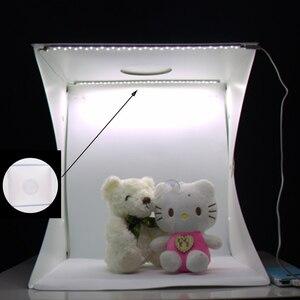 Image 4 - Baolyda נייד LED סטודיו תמונה תיבת 24/30/40 cm צילום סטודיו אביזרי עם שחור/לבן רקע עבור תמונה סטודיו Softbox