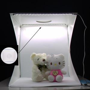 Image 4 - Baolyda Taşınabilir LED Stüdyo Fotoğraf Kutusu 24/30/40 cm fotoğraf stüdyosu aksesuarları Siyah/Beyaz Arka Plan Fotoğraf stüdyo Softbox