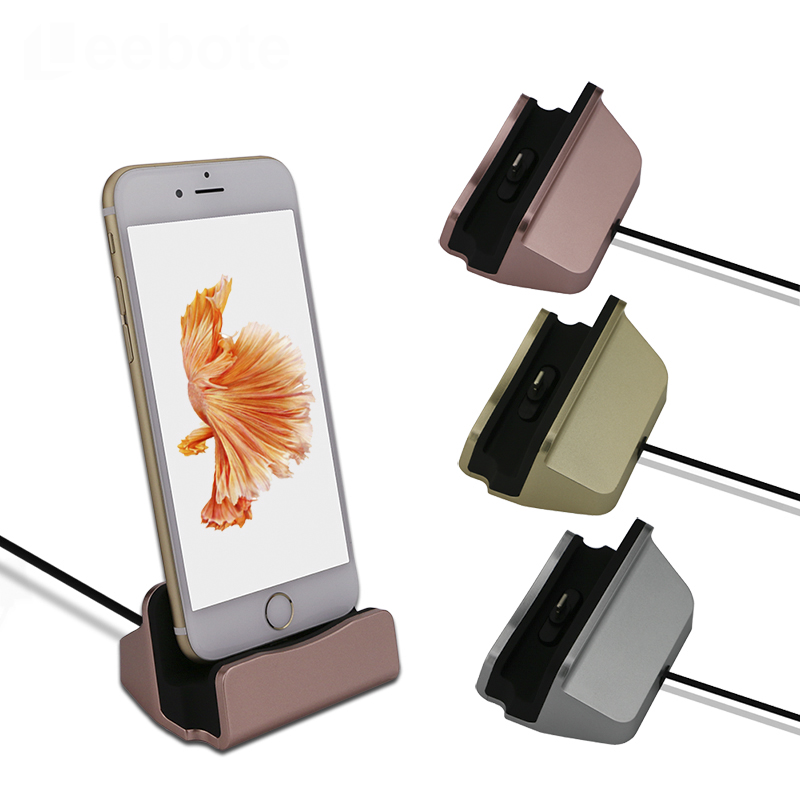 Leebote Original Charging Dock Station Stand Cradle Sync Data Dock Charger for iPhone 5 5S 5SE 6 6S 6S Plus and Android Phones