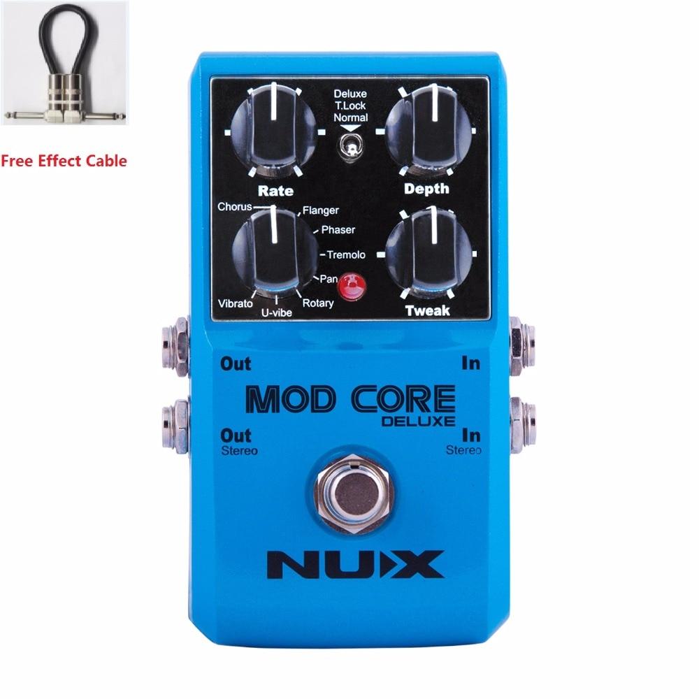 NUX livraison gratuite MOD CORE DELUXE MULTI-MODULATION pédale amélioré matériel et effets avec câble de pédale gratuit