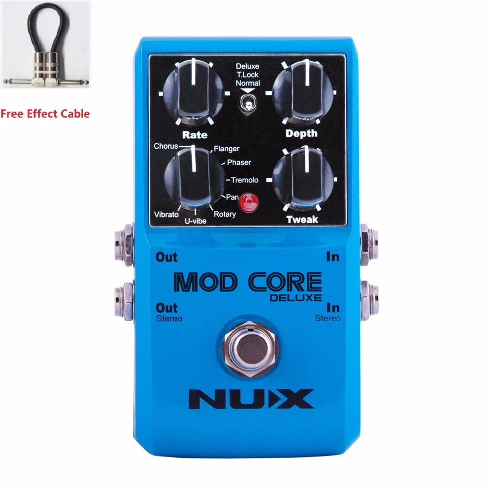 NUX Free Shipping MOD CORE DELUXE MULTI-MODULATION PEDAL Upgraded hardware and effects with free pedal cable цена 2017