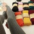 Nuevas polainas del algodón de las mujeres de lana pantimedias chica de punto de lana del hilado