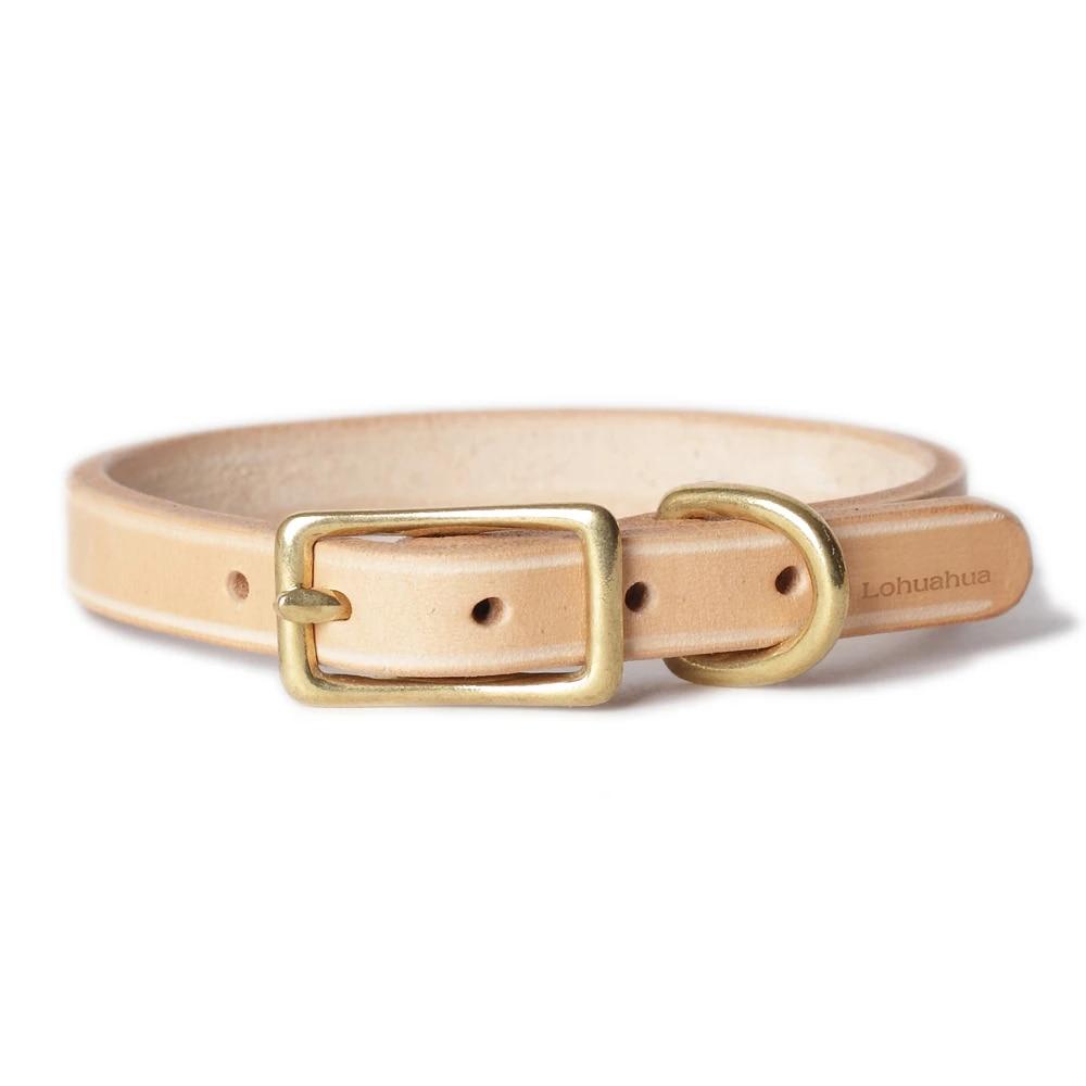 Dog collar Genuine leather dog collar Handcrafted dog collar vegetable tan leather