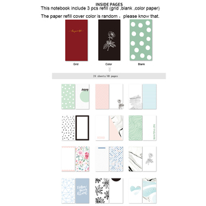 Image 5 - Lovedoki Black & White Dot Leather Cover Traveler Notebook Fashion Journals Planner Office And School Supplies Stationery