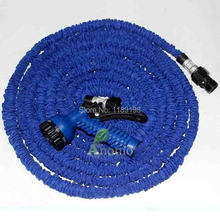75FT Hose With Gun WATER GARDEN Pipe Blue Water valve+ Spray Gun With EU or US Connector seen on TV wholesale Market Shining
