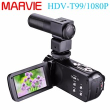 Marvi Camcorder With MIC Night Vision Camera FullHD 24.0MP 1080p Webcam 3″Touchscreen Digital Video Recorder External Microphone