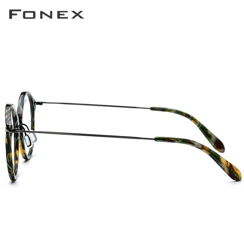 Image 3 - Elastic B Titanium Optical Glasses Frame Women Vintage Round Prescription Eyeglasses Men Retro Myopia Acetate Spectacles Eyewear-in Men's Eyewear Frames from Apparel Accessories