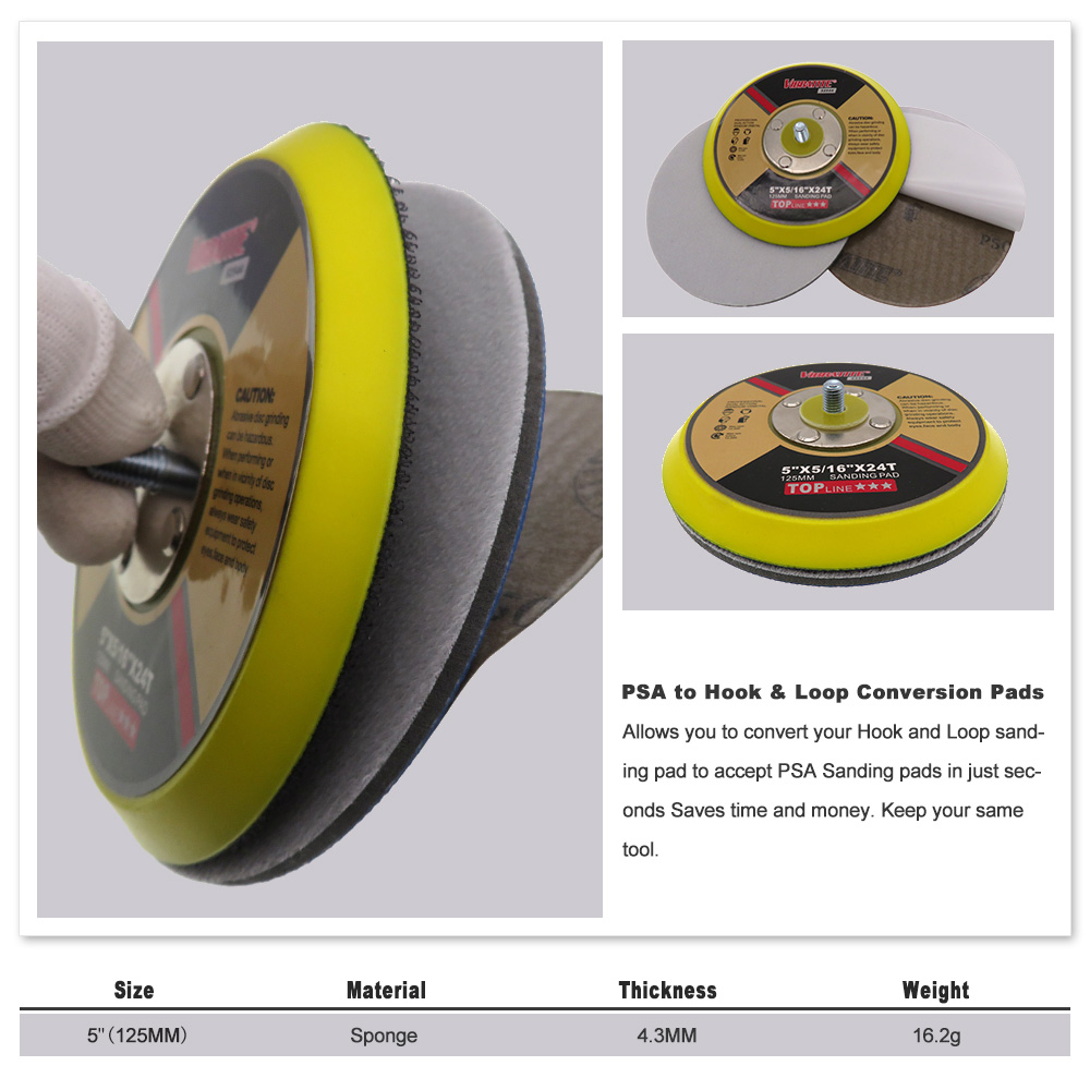 6 150mm Loop to PSA Vinyl Conversion Pads for Discs and Strips Pack of 1