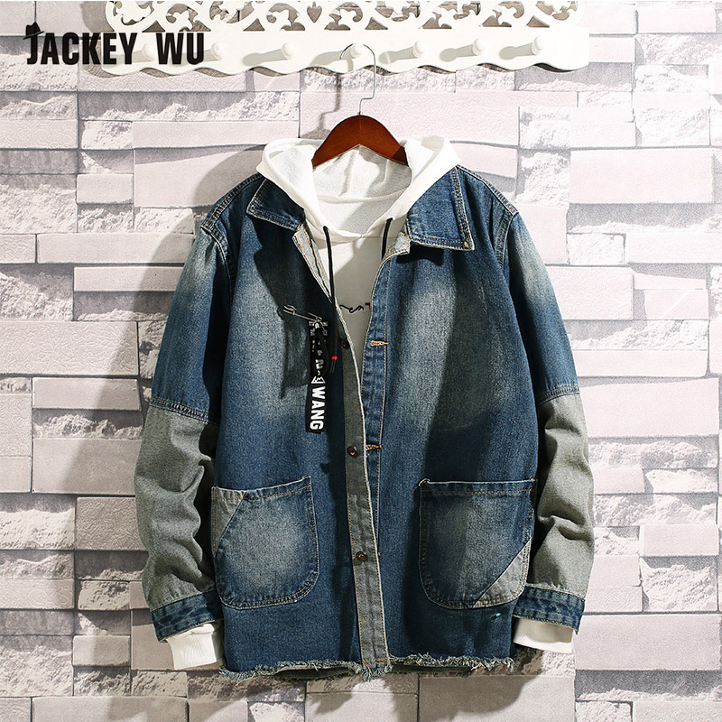 JACKEYWU Males's Denim Jacket Korean Trend Denims Jackets Slim Match Informal Streetwear Classic Mens Jean Clothes Plus Measurement M-3XL Jackets, Low-cost Jackets, JACKEYWU Males's Denim Jacket Korean Trend Denims...