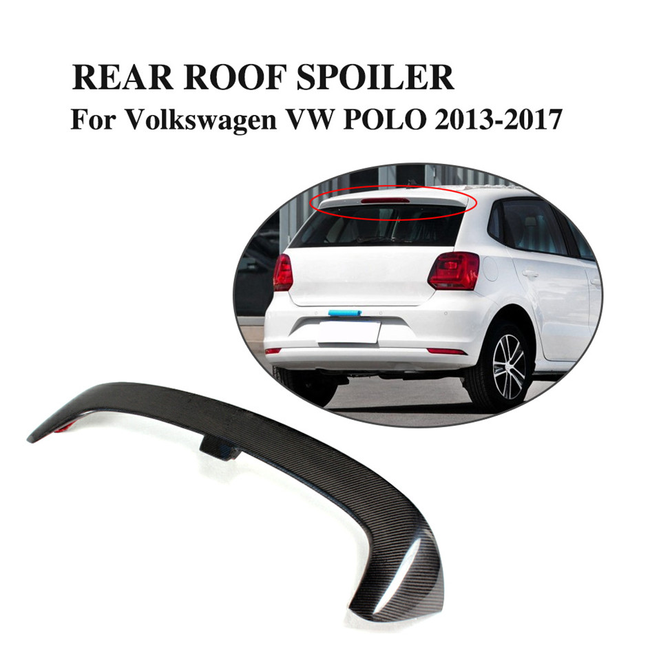 Polo5 Polo Hatchback 5 Door 5th Generation Polo: Carbon Fiber Rear Roof Spoiler Wing Lip For Volkswagen VW