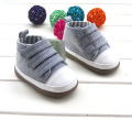 2017 Spring Autumn Baby First Walkers Boy Girls Baby Shoes Solid Canvas Rubber Bottom Toddler Shoes for Kids