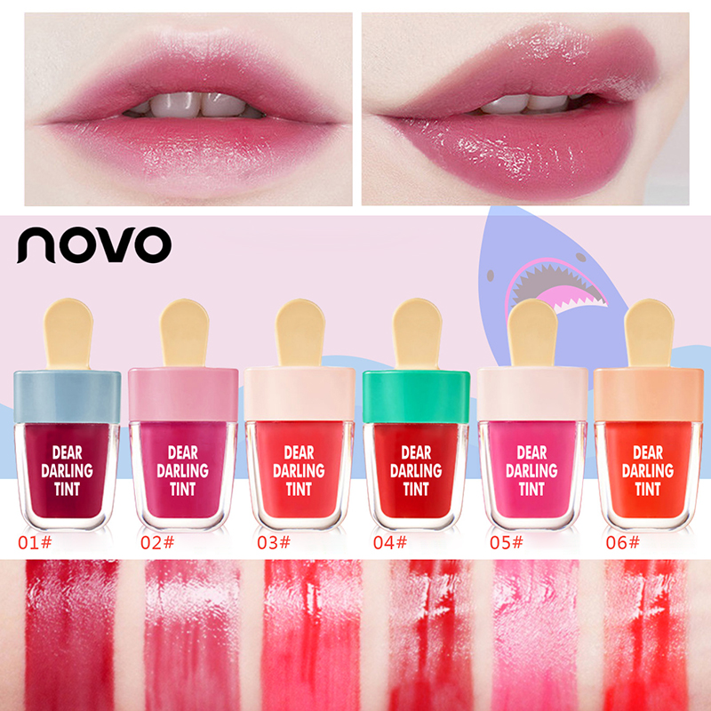 6pcs/set NOVO Lips Tint Makeup Lasting Moisturizer Lip