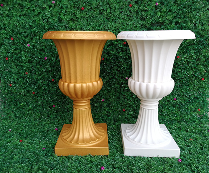 4 Pieces 50cm Tall Plastic Wedding Roman Vase In Vases From Home