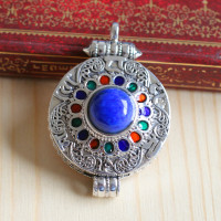 Jimei silver puerile, the supply of S925 Silver Lovers Lapis Pendant Jewelry Silver gawu box bag mail