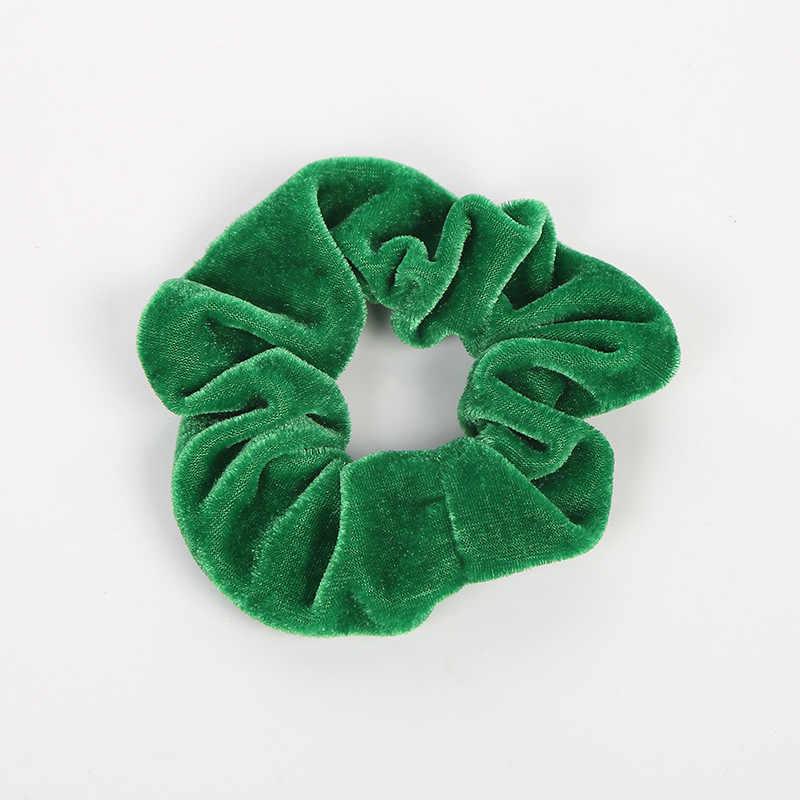35 Màu Nhung Scrunchie Nữ Bé Gái Thun Cao Su Đô Kẹo Cao Su Phối Băng Vòng Dây Cột Tóc Đuôi Ngựa Giá Đỡ Phụ Kiện Tóc