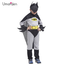 Umorden Boys Batman Cosplay Costume Superhero Christmas New Year Halloween Party Fantasia Fancy Dress for Kids Children