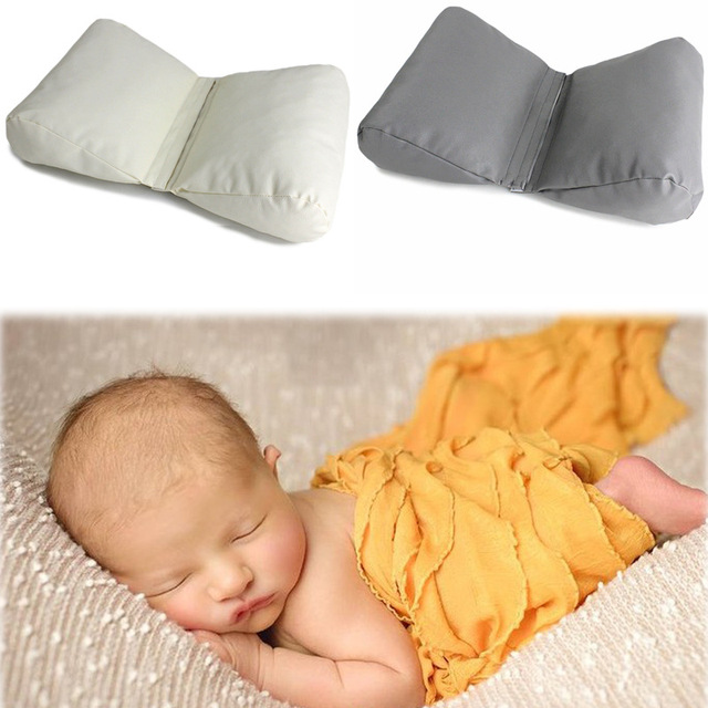 Newborn photography props pillow baby wedge shaped posing cushion infant positioner butterfly pu infant pillow