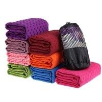 Yoga Mats Microfiber Sports Mat Square Anti Slip Travel Yoga Blanket Towels With Bag L2