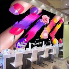 3d wallpaper black watercolor nail polish nail shop background wall professional custom mural photo wallpaper