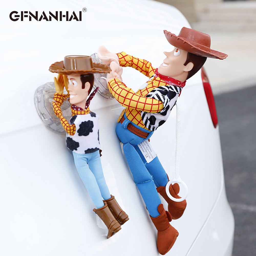 Lovely Toy Story Sherif Woody Car Doll Plush Toys Outside Hang Toy Cute Auto Accessories Hot Sell Car Decoration Toy 25/35/45CM