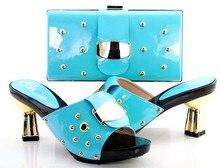 Frauen Schuhe Und Tasche Set SFS-02 grün Freies Verschiffen Italienische Schuhe Mit Passenden Taschen Für Party Sommer Sandale Größe 37-43