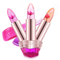 Hot! Fashion Women Jelly Flower Lipstick Color Changeable Long Lasting Cosmetic Tool