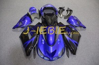 Niebieski czarny Rama Zestaw dla Kawasaki NINJA Wtrysku Fairing Nadwozie ZX14 ZX14R ZX 14 R 2006 2007 2008 2009 2010 2011