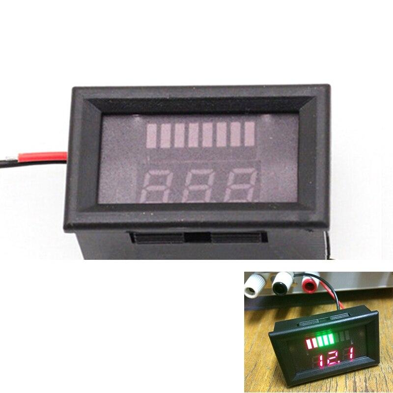 12 В свинцово-кислотная Батарея индикатор Батарея Ёмкость светодиод Тестер Вольтметр зарядки Батарея индикатор уровня свинцово-кислотная