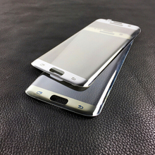S7 край Плёнки Зеркало Покрытие Полный изогнутые закаленное Стекло Плёнки Экран протектор для Samsung Galaxy S7 край G9350 G935 G935f 5.5″