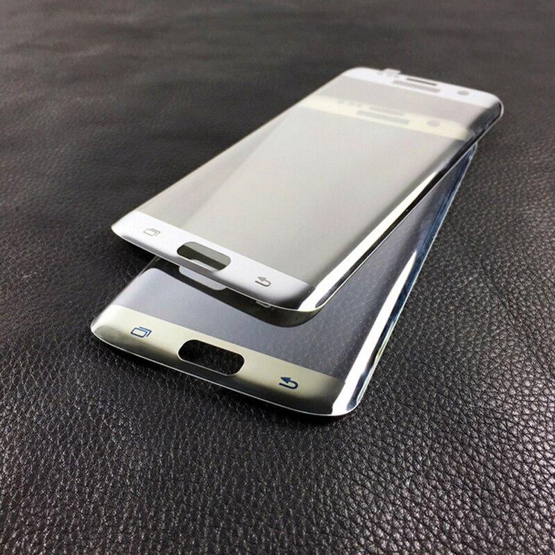 """bilder für S7 Rand Film Spiegel Plating Volle Gebogen Gehärtetem Glas Film Bildschirm schutz für Samsung Galaxy S7 Rand G9350 G935 G935f 5,5"""""""