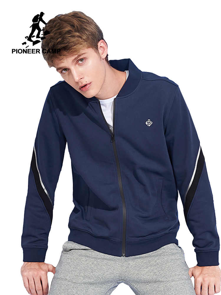 34da47a9 Пионерский лагерь Новая толстовка мужская брендовая одежда модный  темно-голубой свитшот мужской качество повседневный спортивный