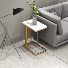 Sofa End-Tables Living-Room Furniture-Iron Glass Marble Mesas 50--30--58-Cm