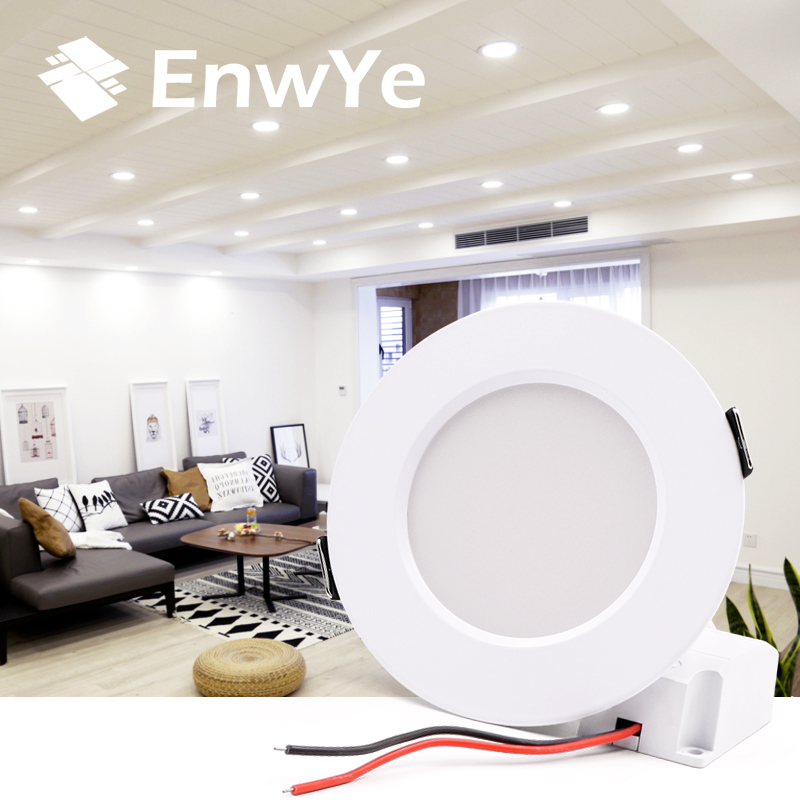 все цены на EnwYe LED Downlight Ceiling IC constant current LED driver 9W 12W 15W Warm white / cold white led light AC 110V 220V онлайн
