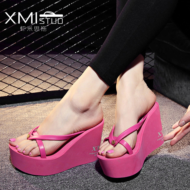 941f8315410f summer Slippers women New overheight with Beach flip flops Muffin cake  sandals shoes woman-in Flip Flops from Shoes on Aliexpress.com