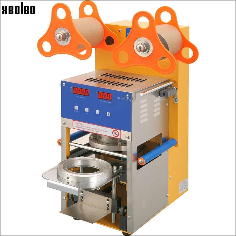 Xeoleo Automatic Bubble tea font b machine b font Cup sealing font b machine b font