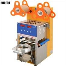 Xeoleo Burbuja té máquina Automática máquina de sellado Taza 400 tazas/Hora Digital Taza De sellador de 110 V/220 V para 95mm Burbuja taza de té