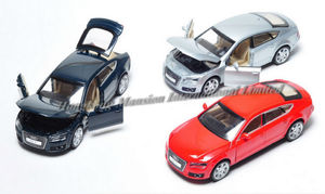 Image 5 - 1:32 Scale For Audi A7 Sportback Luxury Licensed Diecast Metal Alloy Collectible Collection Car Model Sound&Light Toys Vehicle