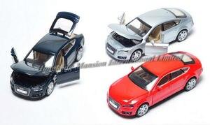 Image 5 - 1:32 ölçekli Audi A7 Sportback lüks lisanslı Diecast Metal alaşım koleksiyon toplama araba modeli ses ve ışık oyuncak araç