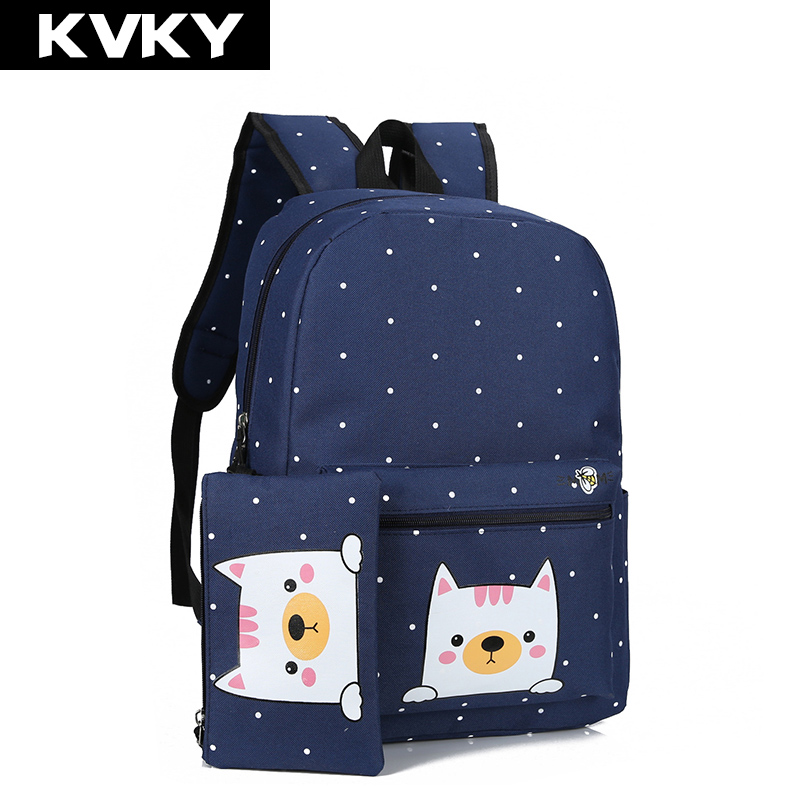 Backpacks for Girls and Boys Girls Women Backpack Nylon Bookbags Floral School Bag Tens Junior High School Three-Piece Set Lightweight Waterproof Casual Travel Daypack School Backpack for Primary