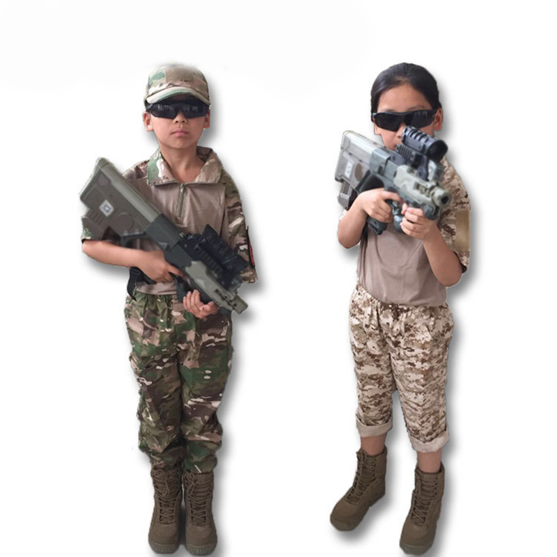 Combat Uniform Children Kids Military Army Tactical Gear Paintball Hunting Multicam Desert Digital Camouflage