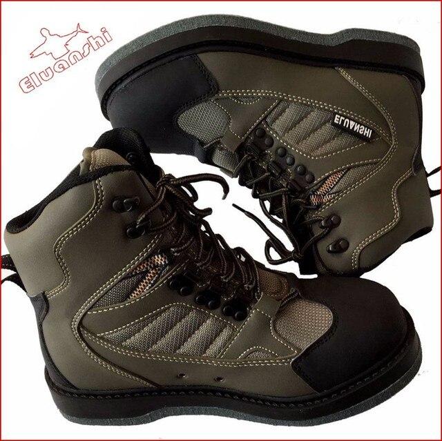 de pescar secado rápido tejido antideslizante orificio de drenaje zapatillas bota masculina para  vadeando volar silla de pesca vadeadores caza botas altas zapatos al aire libre anzuelos caça camo breathable waders