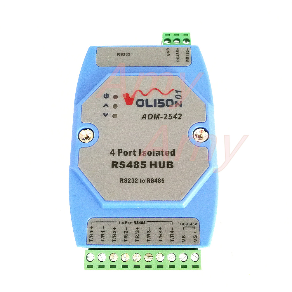 Four Way Isolation Hub 4 Port Rs485 Splitter 1 Min Repeater Rs 485 Data Interface Gives Isolated Full Duplex Operation Support Rs232 In Integrated Circuits From Electronic Components Supplies On